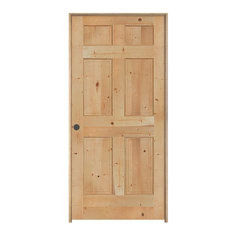 6 Panel Knotty Pine Interior Doors Jeld Wen 32 In X 80 In Woodgrain 6 Panel Unfinished Knotty Pine Single Prehung Interior Door