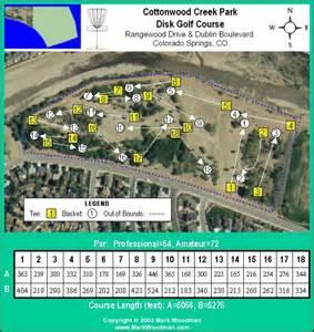 colorado golf courses map cottonwood creek park in colorado springs co disc golf