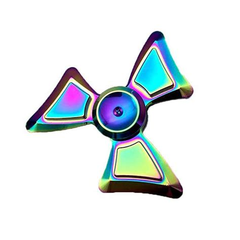 Fidget Spinner Theree Side Rainbowhand Spinner Time Spin 3 7 Menit buy fidget spinner rainbow trio angle figet spinner
