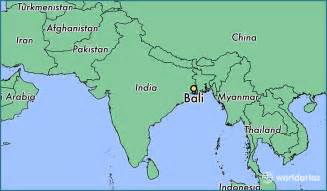 Bali On World Map by World Maps Bali