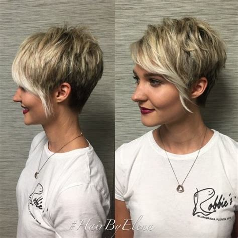 asymmetrical haircuts short in back longer in front 60 cute short pixie haircuts femininity and practicality