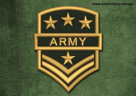 army logo pattern military security patch army