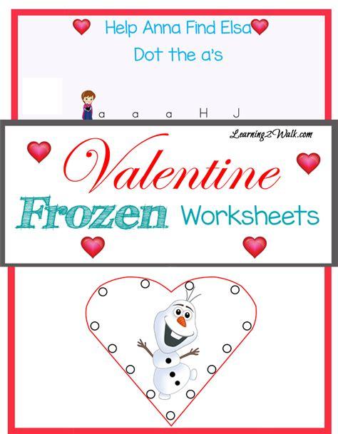 printable frozen worksheets valentine frozen worksheets learning 2 walk
