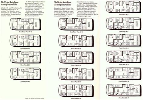 motor home floor plans motorhome floor plans find house plans