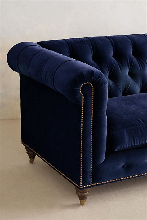 velvet couch clothing velvet lyre chesterfield sofa hickory anthropologie