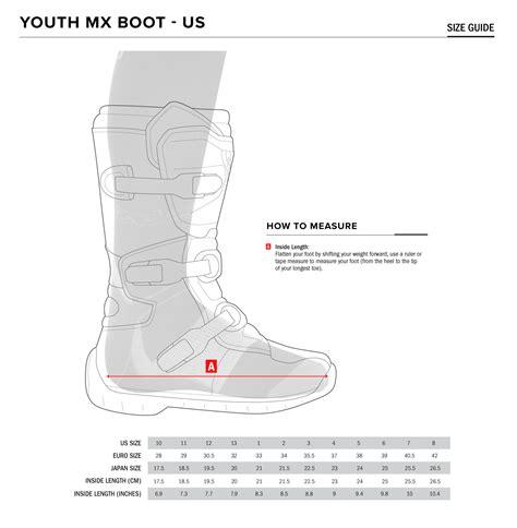 youth motocross boots size chart alpinestars tech 7s youth moto boot alpinestars