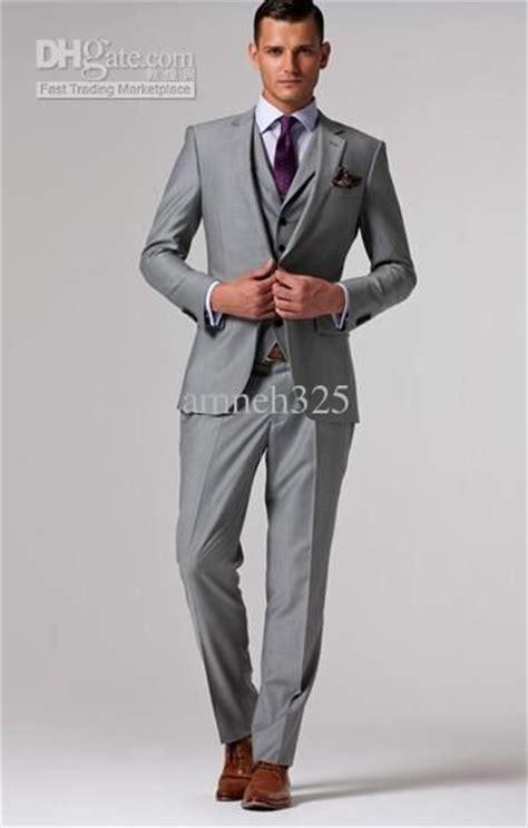 light grey suit brown shoes purple tie grey suit brown shoes wedding pinterest