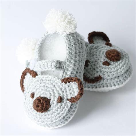 crochet koala baby shoes by attic