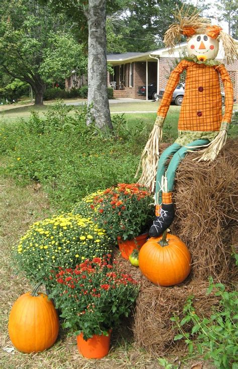 fall hay decorations halloweenscarcrow fall crafts