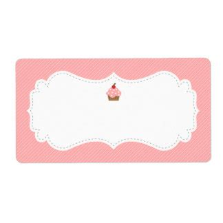 cupcake shipping address amp return address labels zazzle