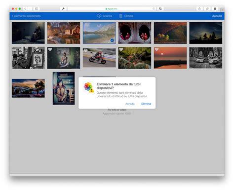 cancellare libreria foto iphone libreria foto di icloud come funziona tra iphone e