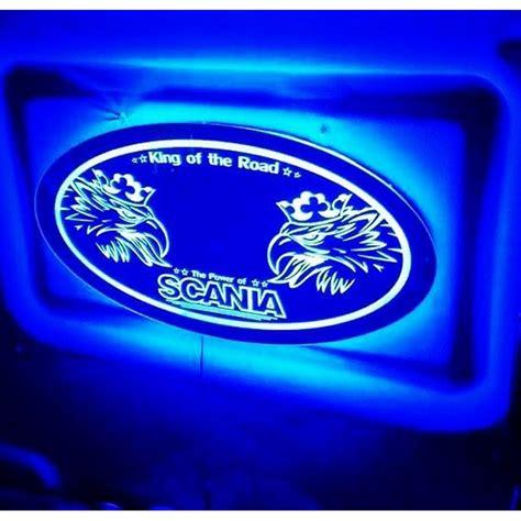 scania led spiegel logo ledbord vrachtwagenlogo jks truck