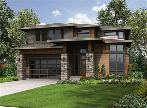 prairie style house plan 23607jd big and bright prairie style house plan