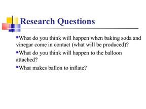 Research Paper Vinegar how to inflate a balloon using baking soda and vinegar