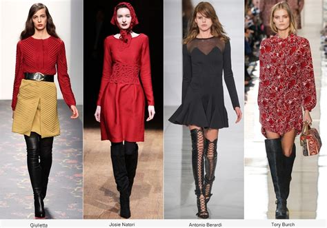 2015 fall winter trend over the knee leather boots fall winter 2014 fashion