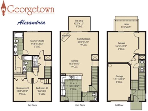 three story townhouse floor plans 3 story townhouse floor plans
