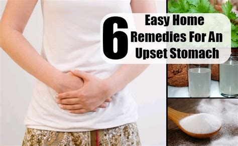 6 easy home remedies for an upset stomach