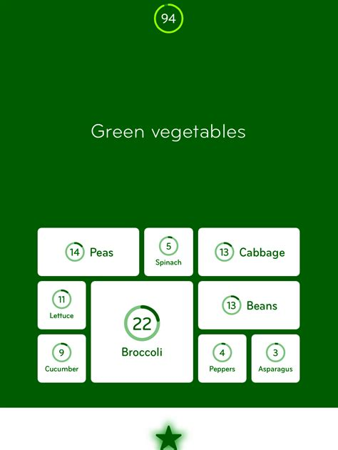 vegetables 94 answers 94 level 17 green vegetables answer 94