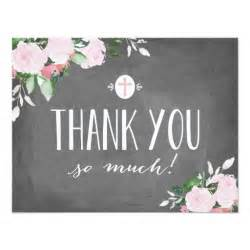floral blooms chalkboard religious thank you card zazzle