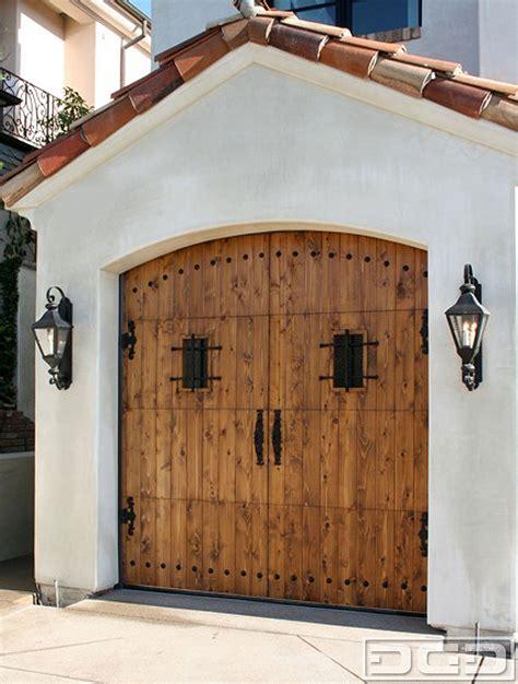 spanish colonial  custom architectural garage door