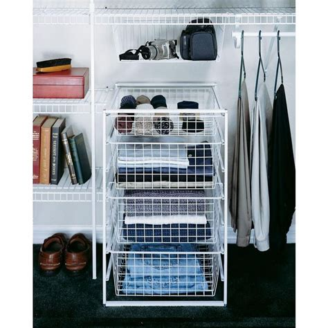 Closet Organizers Wire Baskets by Closetmaid 29 In H Drawer Kit With 4 Wire Baskets Wire