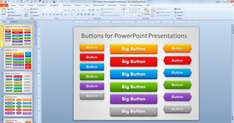powerpoint templates for kiosk free buttons for powerpoint presentations
