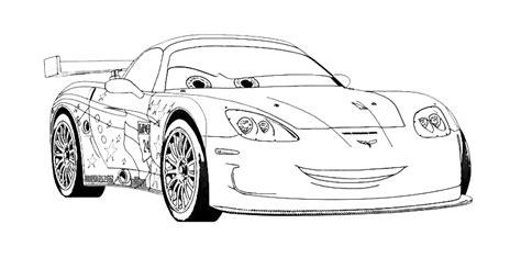 cars 2 coloring pages jeff gorvette pin jeff gorvette coloriag on