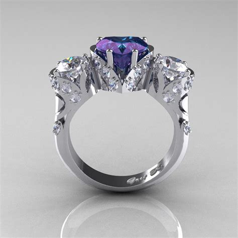 scandinavian 14k white gold 2 0 ct alexandrite white