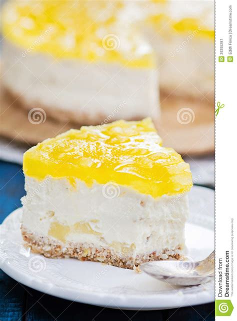 Cheesecake Gift Card Free Slice - slice of pineapple cheesecake royalty free stock photography image 29395287