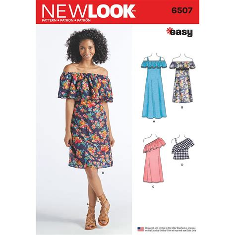 best sewing patterns womens dresses and top new look sewing pattern 6507 sew