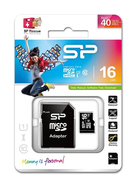 Microsd 16gb Class 10 Visipro 16gb silicon power microsd memory card sdhc class 10 w sd adapter sp016gbsth010v10sp 40mb sec