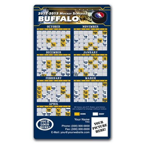 buffalo sabres pro hockey schedule magnets 4 quot x 7