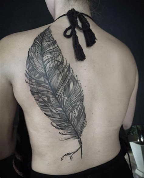 tattoo feather back 30 fabulous feather tattoos for only the most discerning