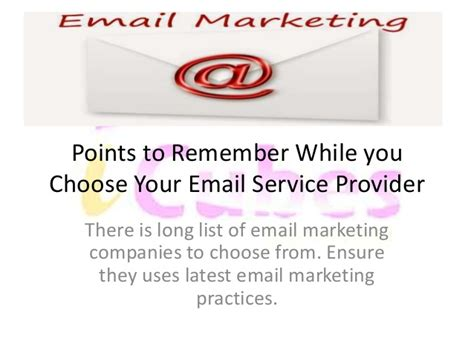 email service provider choosing your email service provider