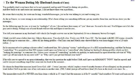 Divorce Warning Letter Writes Scathing Open Letter To Husband S