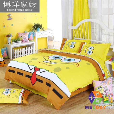 Bedcover Set Spongebob 3d spongebob squarepants children s bedclothes bed linen 100 cotton bedding sets duvet cover