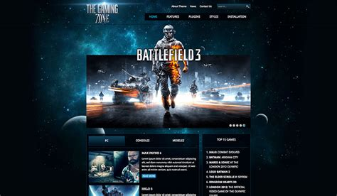 hot live themes wordpress gaming themes gaming zone hotthemes