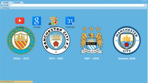 theme google chrome manchester city manchester city badge history chrome theme themebeta