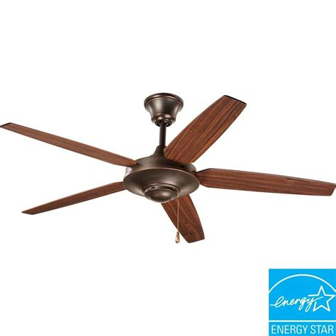 progress lighting ceiling fans progress lighting airpro signature 54 in antique bronze