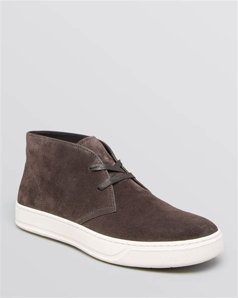 vince mens sneakers vince abe sport suede chukka sneakers in gray for lyst
