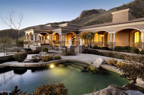 Luxury Homes Tucson Az 7 9m Mountainside Mediterranean Paradise In Tuscon Arizona