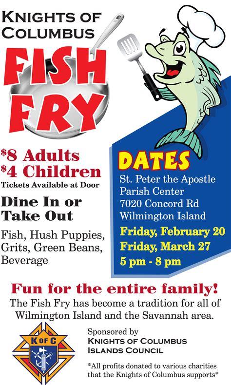 church fish fry flyer