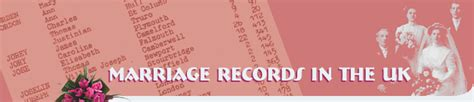 Uk Marriage Records Marriage Records In The Uk Records After 1837