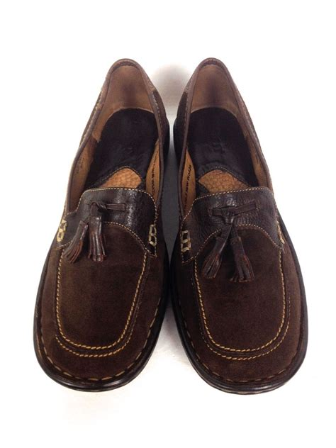born shoes  womens brown leather loafers  sale