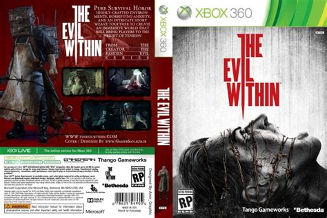 printable xbox 360 game covers the evil within xbox360 cover xbox 360 box art cover by