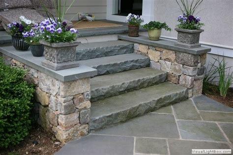 bluestone brick front entrance steps masonry patios bluestone risers with granite cheek walls would have been