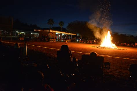 Distance Attendee by Bonfire Lights At School Event East County Your