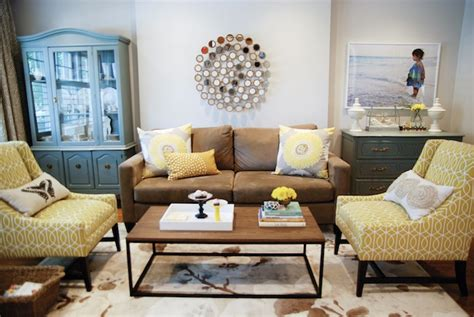 Yellow Chairs Living Room Design Ideas Yellow And Brown Living Room Transitional Living Room Para Paints Rambling
