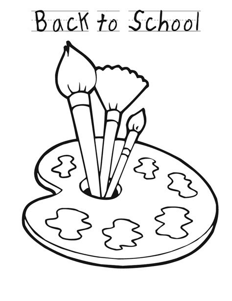 back to paint free printable coloring pages