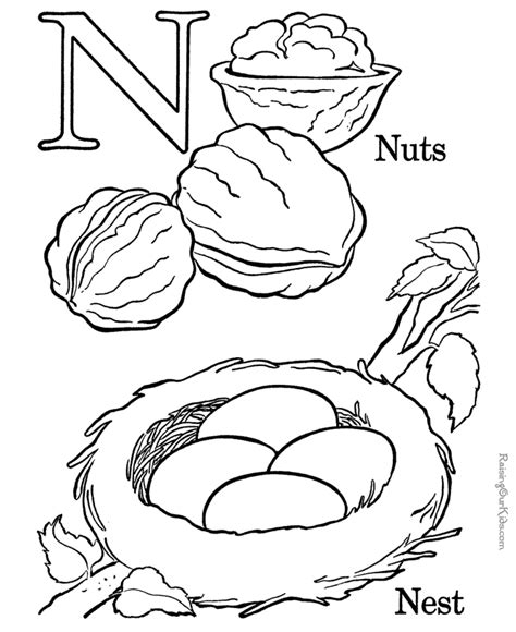 n coloring pages preschool letter n coloring pages preschool coloring home